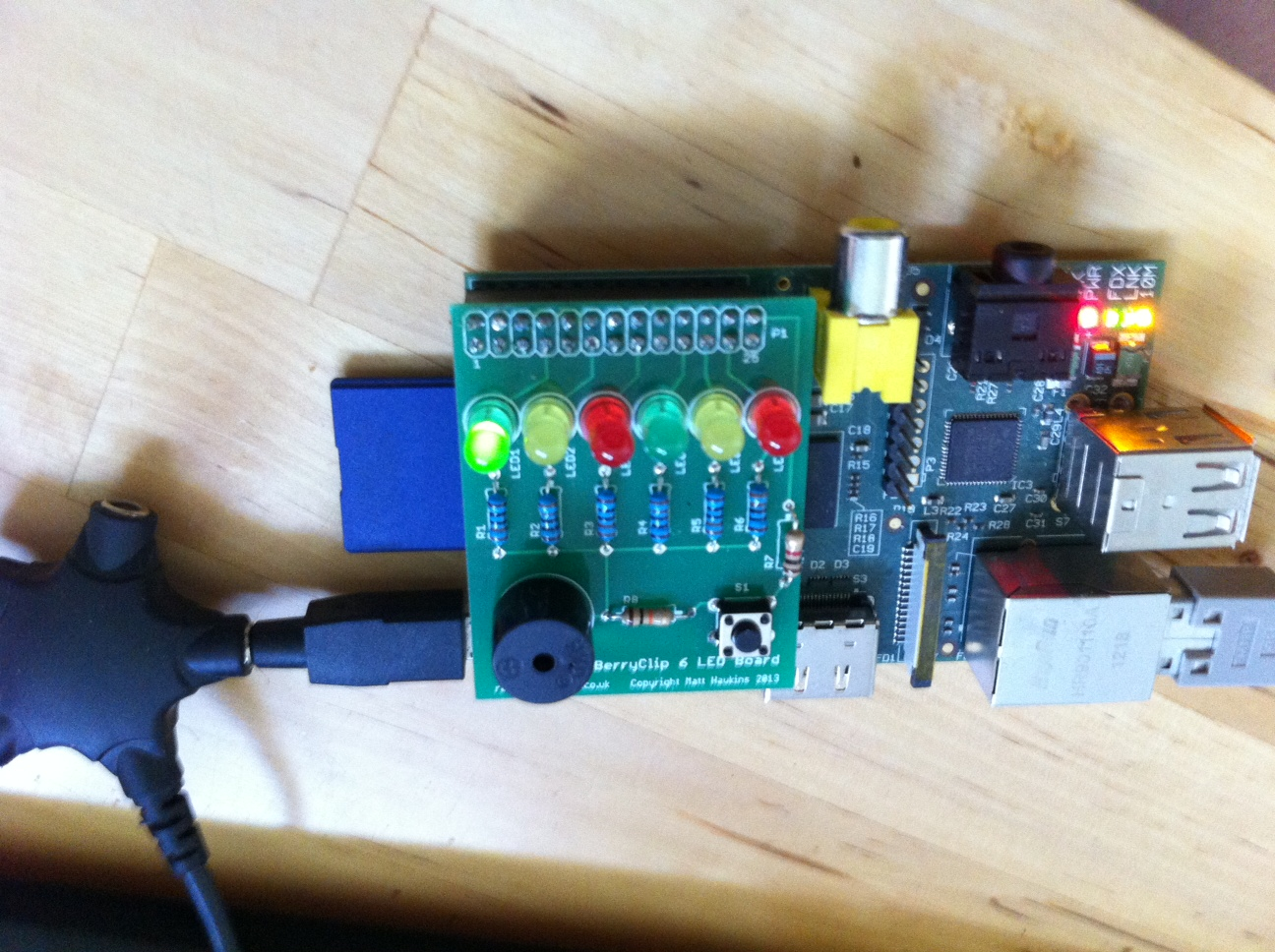 Raspberry PI and BerryClip